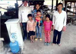 Villagers in Kamreong, Cambodia, have clean water to drink thanks to a water well dug by charity:water and sponsored by On Hold Company.
