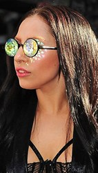 Lady Gaga kaleidoscope glasses crystal prism vision future eyes