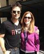 Ian Somerhalder and Goody Awards Founder Liz H Kelly at Social Good Summit