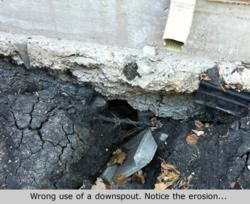 downspout water foundation erpair