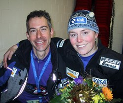 US Ski Team Dr. James Lubowitz with Olympic Gold Medalist Lindsey Vonn