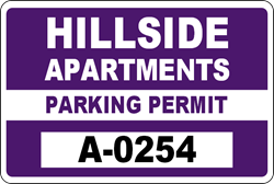 Hillside Apartments Parking Permit