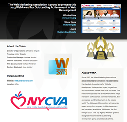 Web Marketing Association's 2013 WebAward for Outstanding Website