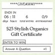 Stylish Organics contest