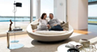 Lacoon  Island   Rotating  Sofa