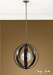 uttermost trofarello, 1 lt pendant 21918. lighting fixtures