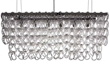 Nuevo Living HGML372 Jayden Small Pendant in Clear Crystal and Chrome