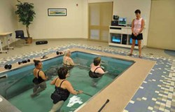 Group Aquatic Therapy in HydroWorx pool