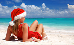 Christmas on a Tropical Beach