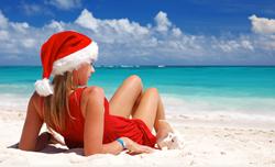 Christmas on a Tropical Beach