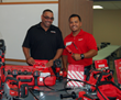Milwaukee Tool Corporation's continued support of apprenticeship program elates Tina Howe of San Diego plumbing company, Bill Howe.