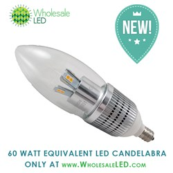 7 watt LED Candelabra Replaces 60 watt bulb
