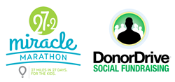 Miracle Marathon and DonorDrive logos