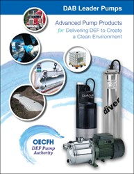 DAB OEC Fluid Handling submersible DEF electric pumps