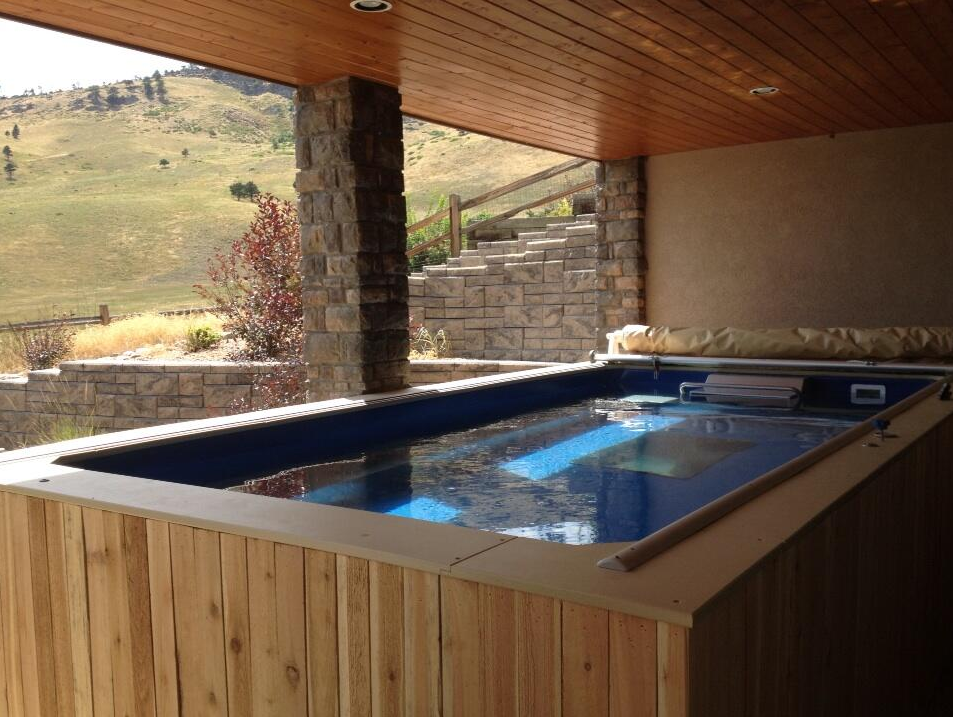 Greg and laura bennett add endless pools to triathlon for Endless pool in basement