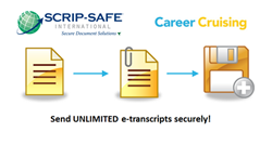 Now students can send electronic transcripts directly through Career Cruising using SCRIP-SAFE's secure delivery network, eSCRIP-SAFE, to any college or university worldwide.