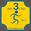 Sub 3 Club marathon decal