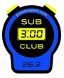"""Sub 3 Club"" marathon decal"