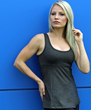 Beautiful athletic girl wearing TerraFrog best selling yoga tank