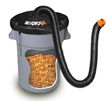 WORX LeafPro Universal Collection System Drives Leaves and yard debris from a mulcher/vac  into a receptacle for easy cleanup