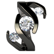 Meghan Diamond black titanium ring