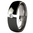 Lunar Eclipse Black Tension Setting Titanium Ring