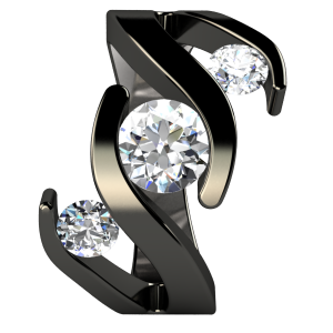 Black Titanium Rings Are A Hot Trend Such As This Meghan Diamond BlackMeghan Ring
