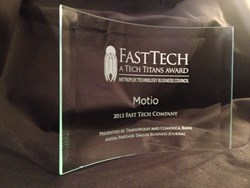 Motio 2013 Fast Tech Award