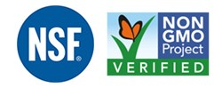NSF International and Non-GMO Project Verification Logos