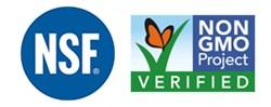 NSF International and Non-GMO Project Verification Logos
