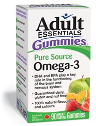 Adult Essentials Omega 3 Supplements contain pure source EPA + DHA