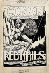 Conan Red Nails Title Page