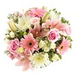 wedding flowers, pink wedding flowers, arranged wedding flowers