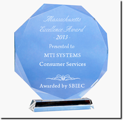 SBIEC Award Presented to MTI Systems