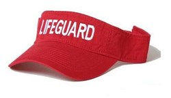 RED LIFEGUARD VISOR