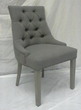 Classic Design Gray Linen Barrelback Chair BEC1206 7028-14