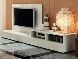 Nightfly Wall Unit in White, Rossetto Wall Units from NIGHTFLY WHITE collection, R413900000068