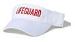 WHITE LIFEGUARD VISOR