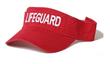 RED LIFEGUARD VISOR