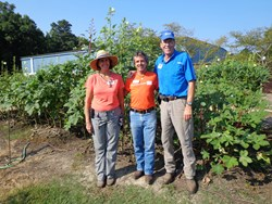 GCF and The Food Bank of Central & Eastern NC celebrate 50,000 lbs of donated produce.