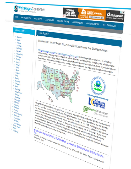 united states telephone white page directory
