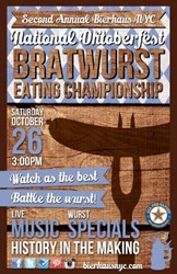 Bierhaus NYC National Oktoberfest Bratwurst Eating Championship
