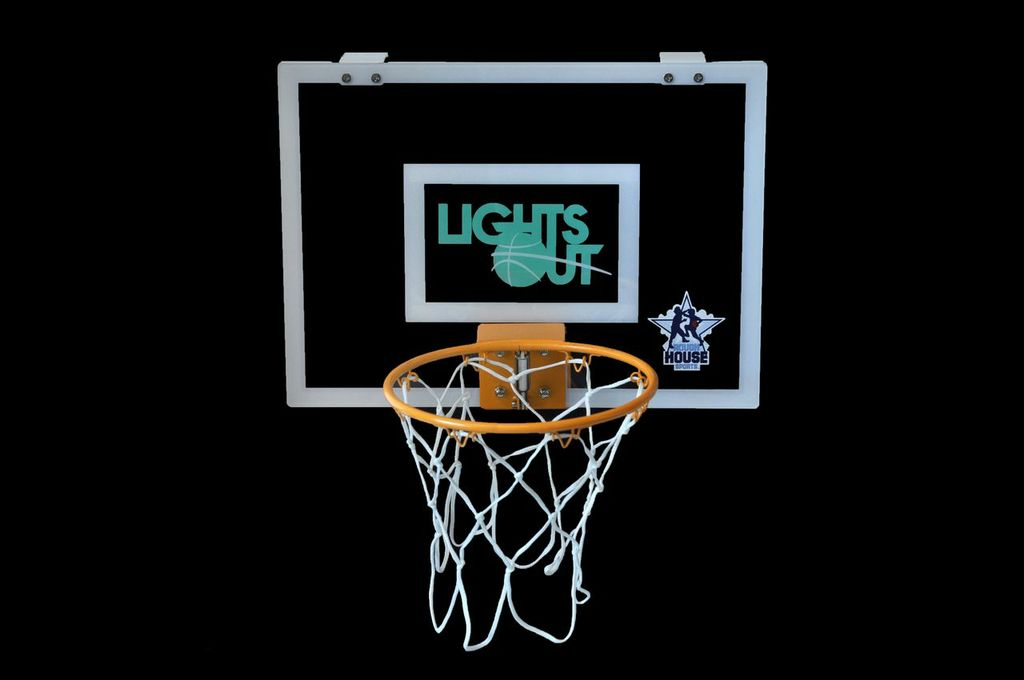 lights out brand glowinthedark mini basketball hoop now