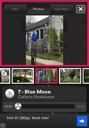 "Screenshot from ""Ossining in 3D,"" the latest app powered by Otocast allowing users to take a virtual tour of the Village of Ossining's bicentennial sculpture exhibit"