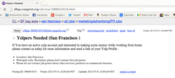 Recruitment Ad on Craigslist for Fake Review Writers