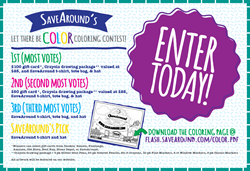 Win a $100 gift card, Crayola drawing packages, and other goodies from SaveAround