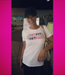 """""""Basketball Wives"""" star Tami Roman is one of the many celebrities that have been seen sporting Get Fit or Get Fat gear."""