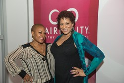 Felicia Leatherwood and Kim Coles at the Expo