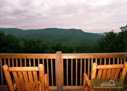 Mountain view from the deck of Gatlinburg cabin