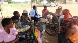 A PCI village-led savings group in Botswana (part of PCI's Women Empowered Initative)